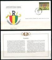 Rwanda  ---   Official FDC International Olympic Committee  --  Enveloppe 1er Jour Du CIO  --  See Scan