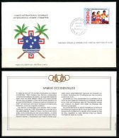 Samoa  ---   Official FDC International Olympic Committee  --  Enveloppe 1er Jour Du CIO  --  See Scan