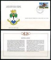 Sierra Leone  ---   Official FDC International Olympic Committee  --  Enveloppe 1er Jour Du CIO  --  See Scan