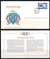 Virgin Islands   ---   Official FDC International Olympic Committee  --  Enveloppe 1er Jour Du CIO  --  See Scan