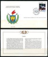 Zaïre   ---   Official FDC International Olympic Committee  --  Enveloppe 1er Jour Du CIO  --  See Scan