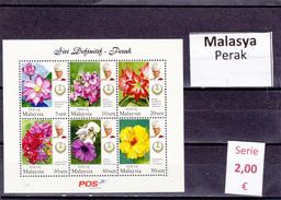 Malasia  Sultanatos  -   Hoja Bloque  Nueva**  -  5/5092