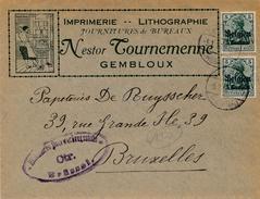 Lettre Illustrée Gembloux Deutsches Reich Pour Bruxelles