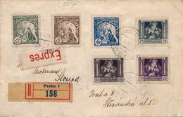 Lettre Expres Recommandée Praha Serie Legion 1919