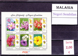 Malasia  Sultanatos  -   Hoja Bloque  Nueva**  -  5/5098