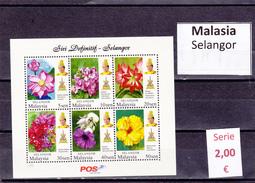 Malasia  Sultanatos  -   Hoja Bloque  Nueva**  -  5/5110
