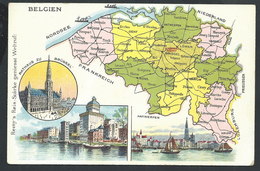 +++ CPA - Carte Géographique - BELGIQUE - BELGIEN - Publicité Remy - Pub   // - Belgien