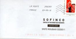 Lettre PRIORITAIRE  20  GRS  LA MARIANNE