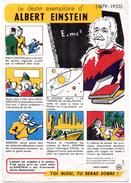 Buvard Comité Santé - Sobriété. Le Destin Exemplaire D'Albert Einstein. - Buvards, Protège-cahiers Illustrés