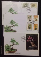 FDC Vietnam Viet Nam Covers 1998 With Imperf SS & Stamps : Bonsai / Flora / Plant (Ms773)