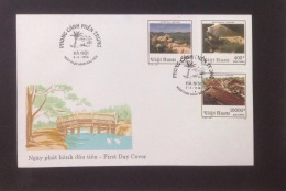 FDC Vietnam Viet Nam With Imperf Stamps 1998 : Landscapes (Ms771)