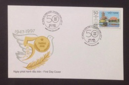 FDC Vietnam Viet Nam Cover 1997 : 50th Anniversary Of War Martyrs And Invalids´ Day (Ms760)
