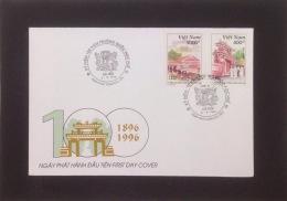FDC Vietnam Viet Nam Cover 1996 : Centenary Of The Hue National School (Ms739)