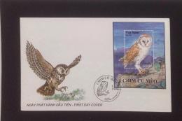 FDC Vietnam Viet Nam Cover 1995 : Owls / Owl / Bird (Ms702)