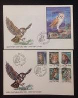 FDC Vietnam Viet Nam Covers 1995 : Owls / Owl / Bird (Ms702)