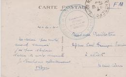 42 ROANNE MINISTERE DE LA DEFENSE NATIONALE COMMISSAIRE MILITAIRE DE LA GARE DE ROANNE - Oorlog 1939-45