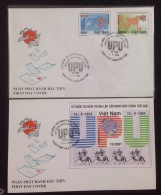 FDC Vietnam Viet Nam Covers Imperf Stamps & SS 1994 : 120th Anniversary Of UPU / Universial Postal Union / Horse (Ms