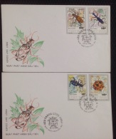 FDC Vietnam Viet Nam Cover 1994 With Imperf Stamps Of Beetles / Insect (Ms688)