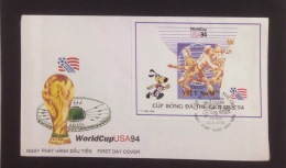 FDC Vietnam Viet Nam With Imperf SS 1994 : World Cup Football In USA (Ms682B)