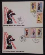 FDC Vietnam Viet Nam Cover 1993 Wiht Perf Stamps Of Vietnamese Ethnic Costumes / Costume (Ms673)