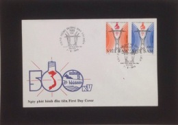 FDC Vietnam Cover 1993 With Imperf Stamps Of All For Trans - Viet Nam 500 Kv Electricity Transmission Lines (Ms665)