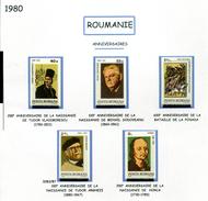 Roumanie** N° 3283 à 3287 - Personnages Célèbres