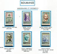 Roumanie** N° 3491 à 3496 - Personnages Célèbres