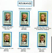 Roumanie** N° 3547 à 3752 - Personnages Célèbres