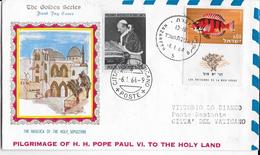 PRIMO VOLO PAPALE DA NAZARETH A VATICANO - 06.01.1964-