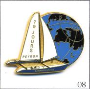 Pin´s Nautisme / Loïc Peyron Sur Commodore - Record Du Monde En 79 Jours (avril 93). Est. Ballard. Zamac. T525-08 - Bateaux