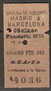MADRID - BARCELONA 3/FEBRERO/1942 - Spoorwegen