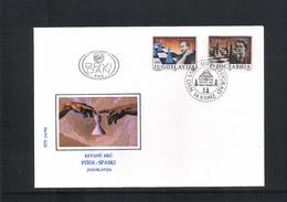 Jugoslawien / Yugoslavia / Yougoslavie 1992 Sport Michel 2559-60 FDC - Cartas