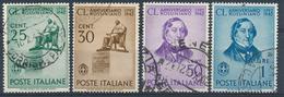 1942 ITALIA REGNO GIOACCHINO ROSSINI SERIE 4 VAL. USATI  - VV07B