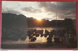 Tenby - Sunset - Wales - Boats - Posted In Aberystwyth 1980 - Pembrokeshire