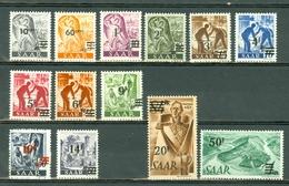 Sarre 1947 Yv 216/228** - 1947-56 Allierte Besetzung