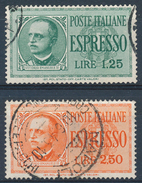 1933 ITALIA REGNO ESPRESSO LIRE 1,25 + LIRE 2,50 USATI - VV07C