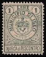 Italy Revenues Local Municipal Marca Da Bollo Comunale ISEO