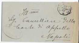 STORIA POSTALE REGNO - ANNULLO COLLETTORIA OTTAGONALE GIUNGANO (SA) (p.4) 26.04.1920(ANNO CAPOVOLTO) SU FRANCHIGIA