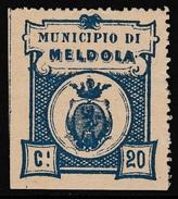 Italy Revenues Local Municipal Marca Da Bollo Comunale MELDOLA