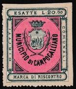 Italy Revenues Local Municipal Marca Da Bollo Comunale CAMPOGALLIANO