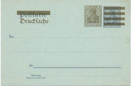 DR Postkarte Mit Überdruck Drucksache, **
