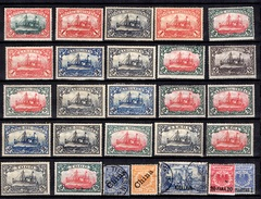 Colonies Allemandes Belle Petite Collection Neufs Et Oblitérés 1897/1919. Bonnes Valeurs. B/TB. A Saisir!