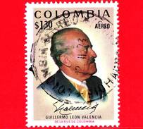 COLOMBIA - Usato -  1972 - Guillermo Léon Valencia Munoz (1909-71), Presidente Di Colombia -  1.30 P.a.