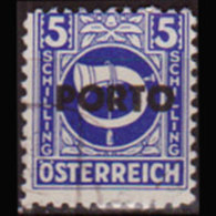 AUSTRIA 1946 - Scott# J203 AMG Opt. 5g Used - 1945-.... 2nd Republic
