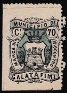 Italy Revenues Local Municipal Marca Da Bollo Comunale CALATAFIMI