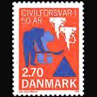 DENMARK 1988 - Scott# 851 Civil Defense Set Of 1 MNH - Dänemark