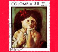 COLOMBIA - Usato - 1977 - Donne - 20 Anni Del Voto Femminile - La Cayetana Di Enrique Grau - 8 P. Aerea