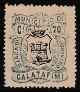 Italy Revenues Local Municipal Marca Da Bollo Comunale CALATAFIMI 2