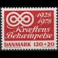 DENMARK 1978 - Scott# B57 Anti-Cancer Set Of 1 MNH