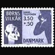 DENMARK 1991 - Scott# B76 Children Telephone Set Of 1 MNH